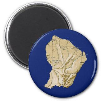 Guyane Map Magnet