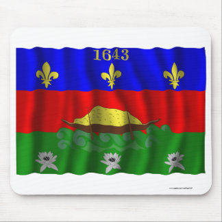 Guyane waving flag mouse pad