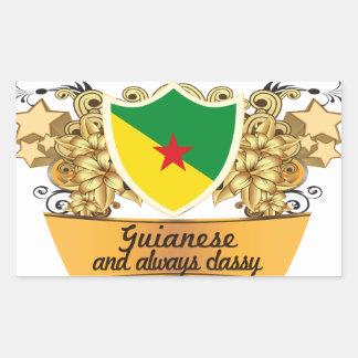 Guyanés con clase pegatina rectangular
