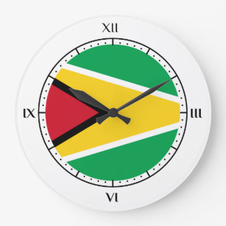 Guyanese flag large clock