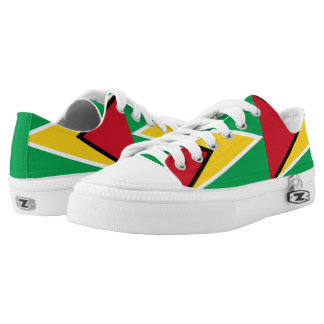 Guyanese flag Low Top Shoes Printed Shoes