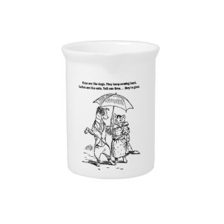 Guys and Ladies Dogs and Cats Drink Pitcher