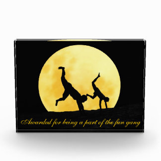 Guys and the full moon acrylic award