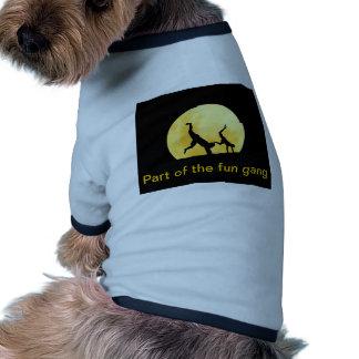 Guys and the full moon pet shirt