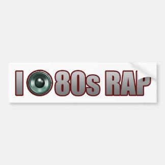 guys girls 80s RAP MUSIC HIP-HOP JAMS Bumper Sticker