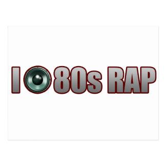 guys girls 80s RAP MUSIC HIP-HOP JAMS Post Card