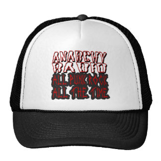 guys girls ANARCHY RADIO all punk all the time Mesh Hat