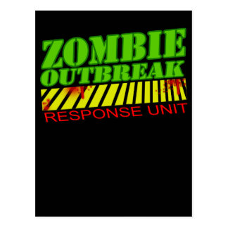 guys girls funny zombie shirt undead zombies postcard