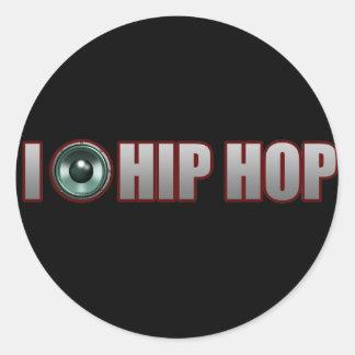 guys girls new old school HIP HOP HIPHOP RAP Classic Round Sticker