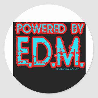 guys girls RAVE Raver raving club music dance DJ Classic Round Sticker