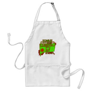 guys girls undead zombies funny zombie shirt adult apron