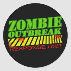 guys girls undead zombies funny zombie shirt classic round sticker