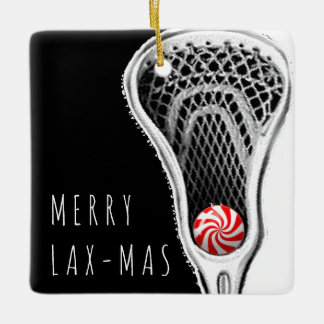 guys lacrosse gifts ceramic ornament