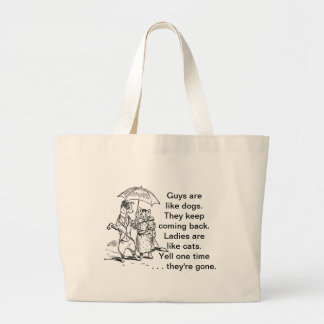 Guys Like Dogs - Cats Like Ladies Humor Canvas Bags