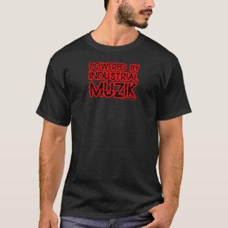guys mens girls ladies powered by Industrial Muzik T-Shirt