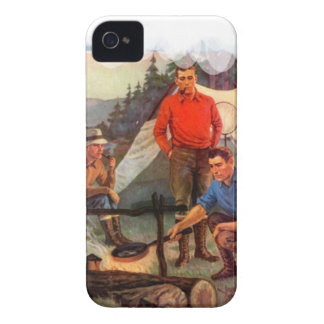 Guys only camping trip Case-Mate iPhone 4 case