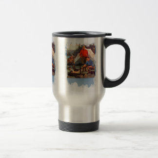 Guys only camping trip coffee mugs