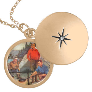 Guys only camping trip lockets