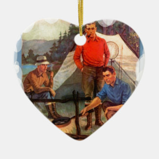 Guys only camping trip christmas tree ornaments