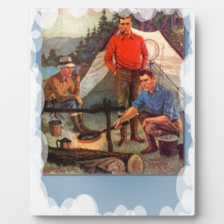 Guys only camping trip plaques