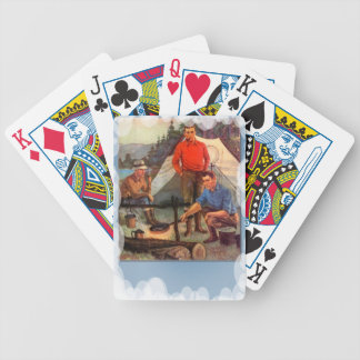 Guys only camping trip card decks
