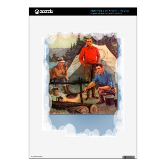 Guys only camping trip iPad 3 decals