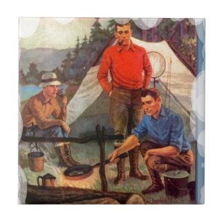 Guys only camping trip tile