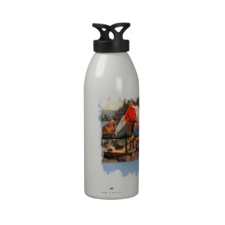 Guys only camping trip drinking bottle