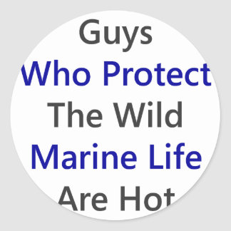 Guys Who Protect The Wild Marine Life Are Hot Sticker