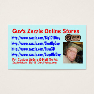 Guy's Zazzle Business Card