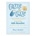 Guzzle and Gaze Baby Shower Invitation