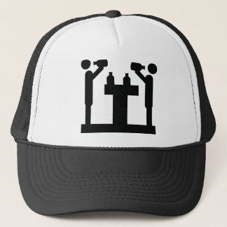guzzle culture beer icon trucker hat