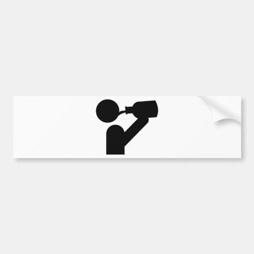 guzzler icon bumper sticker