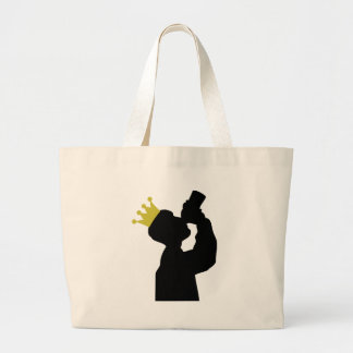 guzzler with crown icon canvas bag