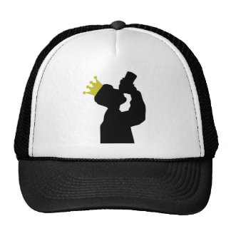 guzzler with crown icon hat