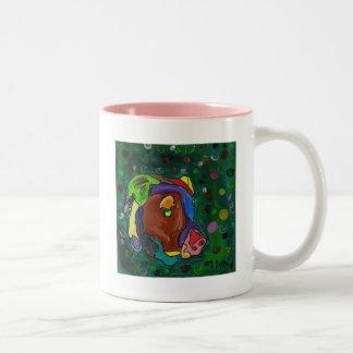 GVCS Dog Art - Olivia Two-Tone Coffee Mug