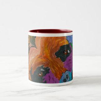 GVCS Dog Art Two-Tone Coffee Mug