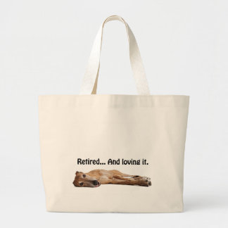 GVV Greyhound Retired and Loving It Jumbo Tote Bag