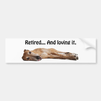 GVV Greyhound Retired and Loving It Bumper Sticker