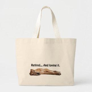 GVV Greyhound Retired and Loving It Jumbo Tote Bag