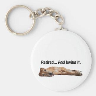 GVV Greyhound Retired and Loving It Keychain