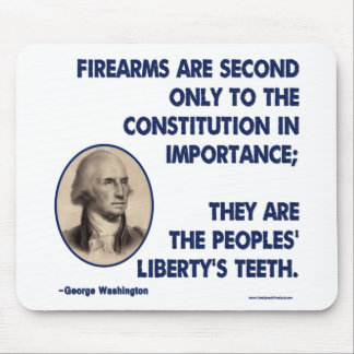GW - Firearms Second only to the Constitution Mouse Pad