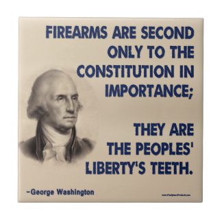 GW - Firearms Second only to the Constitution Small Square Tile