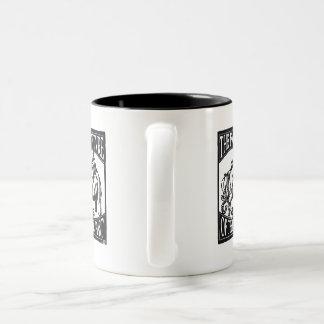 "GW MEMSI ""The Future is the Past"" Two-Tone Coffee Mug"