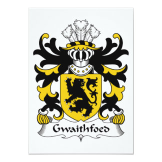 "Gwaithfoed Family Crest 5"" X 7"" Invitation Card"