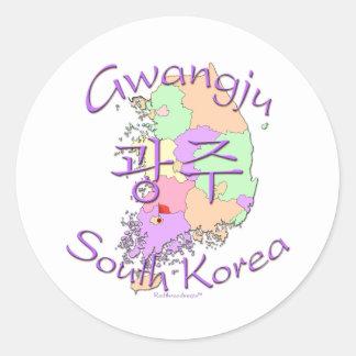 Gwangju South Korea Round Sticker