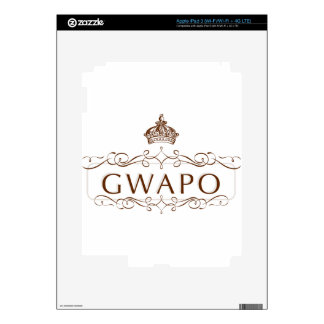 GWAPO - FUNNY FILIPINO DESIGN DECAL FOR iPad 3