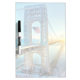 GWB connecting Fort Lee NJ and Manhattan NYPlus Dry-Erase Boards