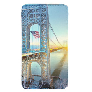 GWB connecting Fort Lee NJ and Manhattan NYPlus Galaxy S5 Pouch