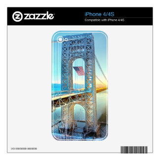 GWB connecting Fort Lee NJ and Manhattan NYPlus iPhone 4 Skins